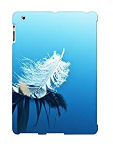 Pretty ZuVbQnx1658VTdLR Ipad 2/3/4 Case Cover/ White Feather On Blue Surface Series High Quality Case For Thanksgiving Day's Gift