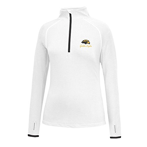 ern Mississippi Golden Eagles Women's Script Logo Power Through Poly 1/2 Zip Jacket, X-Large, White/Black (Southern Mississippi Golden Eagles Jackets)