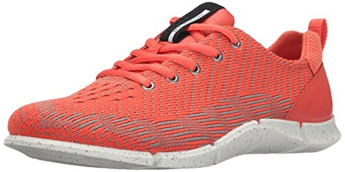 Womens Karma Sneaker - ECCO Women's Intrinsic Karma Tie-W, Coral Blush/Moon Rock, 40 EU/9-9.5 M US