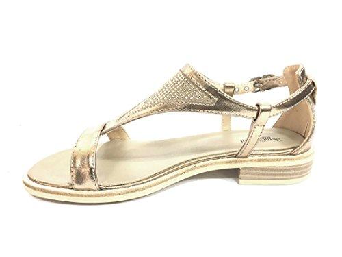 Italy Nero Pelle In Donna Sabbia Giardini 17720 Scarpa Sandalo Made waHqIC