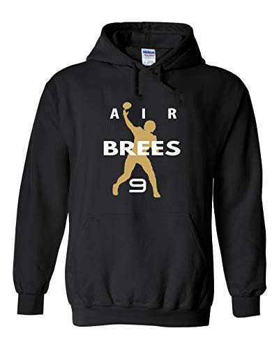 PROSPECT SHIRTS Black New Orleans Brees AIR Hooded Sweatshirt Youth