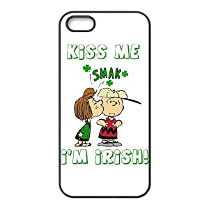 iPhone 5,5S cell phone cases Black Charlie Brown and Snoopy MN709684