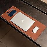 Mouse Pad Desk Pad Max L Couro Ecologico 70x30cm Design Minimalista (Caramelo)