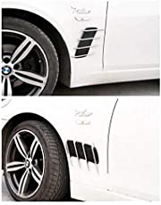 Car plated side outlet shark gills side vent car stickers (1 pair)