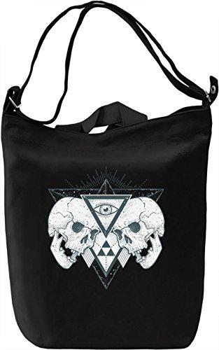 Skulls Borsa Giornaliera Canvas Canvas Day Bag| 100% Premium Cotton Canvas| DTG Printing|