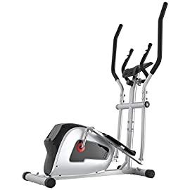 Crystal Fit Home Gym Magnetic Elliptical Trainer with LCD Monitor and Pulse Rate Grips