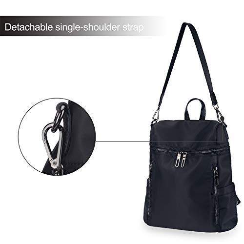 Women black Fashion Backpack Backpack Girls Purse Bag Travel LEADO 2 School Daypack for Shoulder Lady Nylon qIUwSWxZ