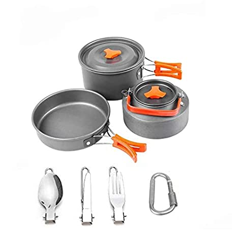 5569a2e553ff Amazon.com: Ultralight Camping Cookware Utensils Outdoor Tableware ...