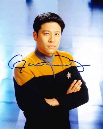 GARRETT WANG as Ensign Harry Kim - Star Trek: Voyager GENUINE AUTOGRAPH from Celebrity Ink