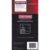 Craftsman Wet/Dry Vac Filter Nut & Plate 9 17980