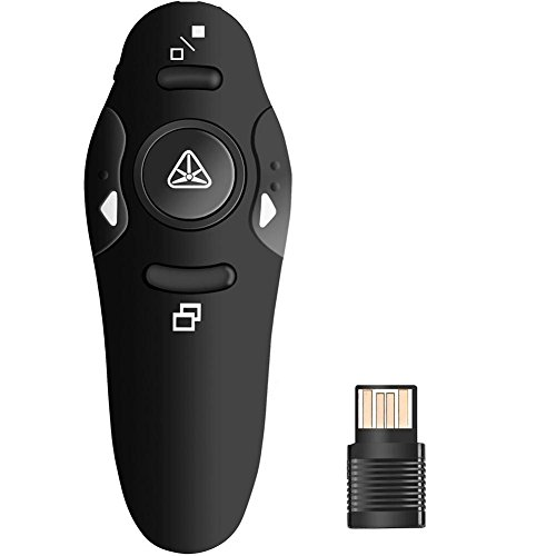 Wireless Laser Presenter 2.4GHz PowerPoint Clicker Presentation Remote Control PPT Pointer Clicker Flip Pen