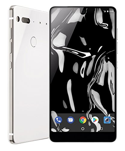 Essential Phone in Pure White - 128 GB Unlocked Titanium and Ceramic phone with Edge-to-Edge Display (Best Cell Phone Deals Canada)