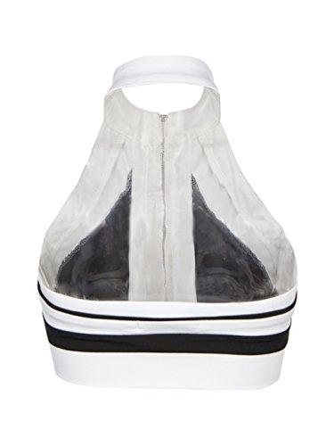 Blooming Jelly Damen Colorblock mit Reißverschluss Crop Top Short Oberteile Outfits