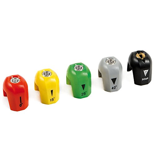 Sun Joe Electric Pressure Washer Quick-Connect Spray 5-Tip Set | SPX3000-TPS --P#EWT43 65234R3FA713332