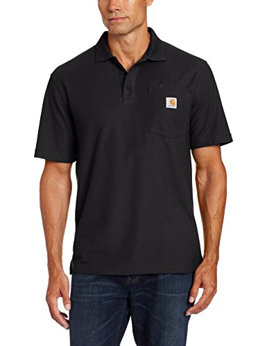 Carhartt Men's Contractors Work Pocket Polo,Black,Large