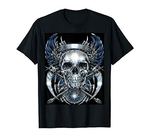 SKULL AND WINGS AWESOME GRAPHIC T SHIRT