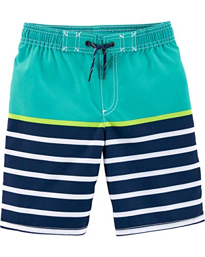 Bathing Suit Boys - Carter's Little Boys' Swim Trunk, Turquoise Stripe, 6