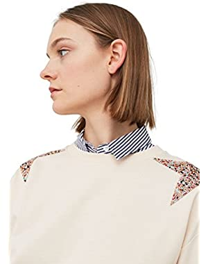 Mango Women's Glitter Stars Sweatshirt