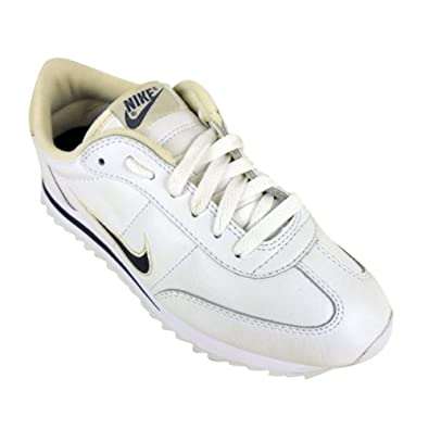 be8a9a88e69d Ladies Nike Spirit Deluxe White Navy Leather Trainers Womens Trainer Size  UK 4.5  Amazon.co.uk  Shoes   Bags