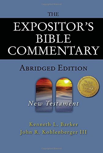 Download The Expositor's Bible Commentary Abridged Edition: New Testament (Expositor's Bible Commentary) pdf