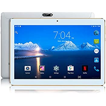 Android Tablet with Sim Card Slot Unlocked 10 inch - YELLYOUTH 10.1 in Octa Core 4GB RAM 64GB ROM 3G GSM Phone Call Tablets with WiFi GPS Bluetooth ...