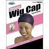 DREAM Deluxe Wig Cap Black 2 pc (Model: 097 BLACK), Spandex cap, Wig cap, Mesh cap, Snood, Hair net, Fish net by Dream