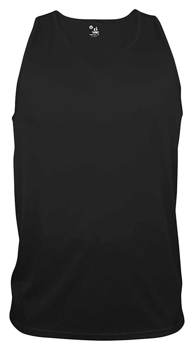 Black Large Badger Big Boys Scoop Neck Sleeveless Plain Sports Tank Top
