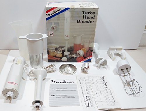Moulinex Turbo Hand Blender with Attachements and Accessories Made in France