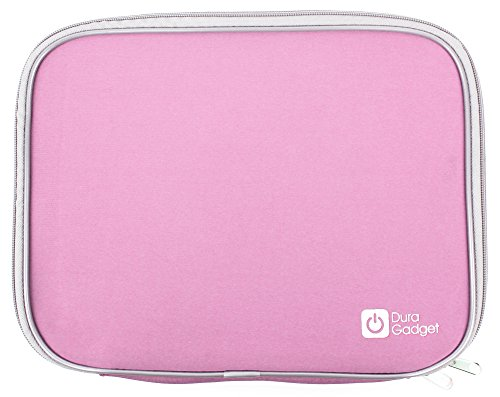 DURAGADGET Pink Splash Resistant Neoprene Carry Case For Oregon Scientific Barbie B-Book Learning Laptop & B-Smart Learning Laptop