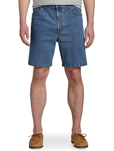 Harbor Bay by DXL Big and Tall Continuous Comfort Denim Shorts - Updated Fit ()