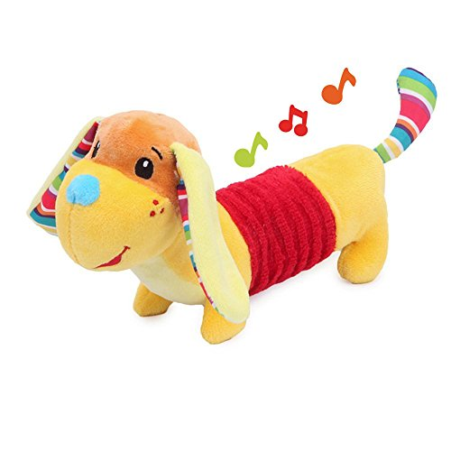 FOREAST Baby Rattle Toys Soft Plush Animal Infants Boys Shaker Handbells Newborn Girls Novelty Stuffed Dog Shaking Bell