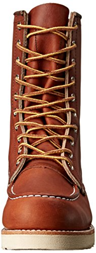 8'' Toe Classic Red 8830 Wing Mens Boots Leather Moc Marrone qwPAvC1