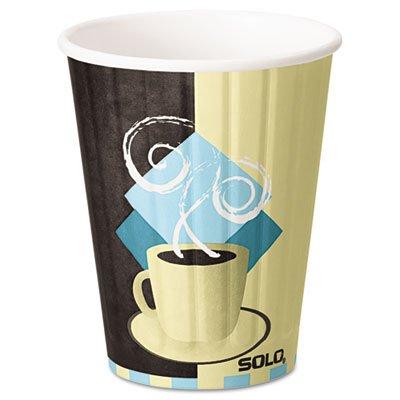 SOLO® Cup Company Duo Shield Hot Insulated 12 oz Paper Cups, Beige, 600 Per Carton