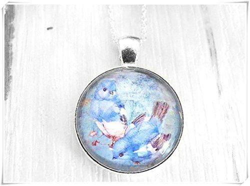 Blue Bird Necklace, Spring Jewelry, Bird Lover, Little Birds,songbird Necklace, Sweet Bird, Bluebird Jewelry, Necklace For Girls, Best -