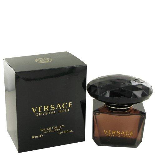 Gianni Versace Eau de Toilette Spray, Crystal Noir, 3 Ounce Crystal Noir Edp Spray