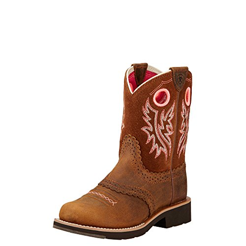 Kids' Fatbaby Cowgirl Western Boot (Little Kid/Big Kid), Powder Brown/Western Brown, 13 M US Little Kid