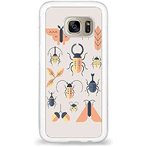 Customized Words Inspire,Insects art design back phone cases for Samsung Galaxy S7 Sales