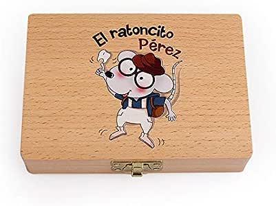 Lorenory Cajas para Dientes Bebé Caja de Madera Caja de Dientes ...