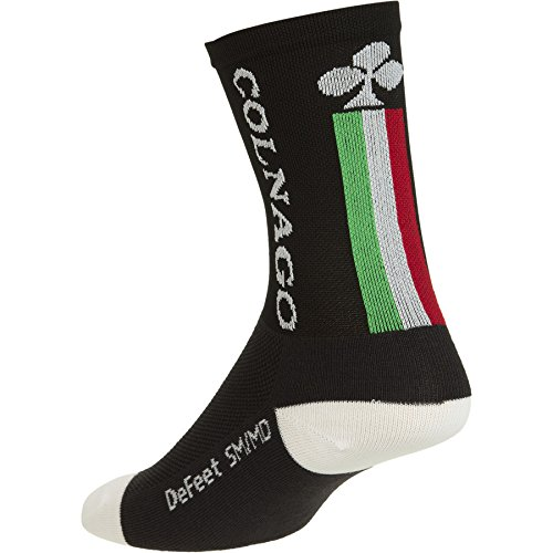 Colnago Tall 14cm Lycra Road Mountain Bike Cycling Socks (S/M, Black)
