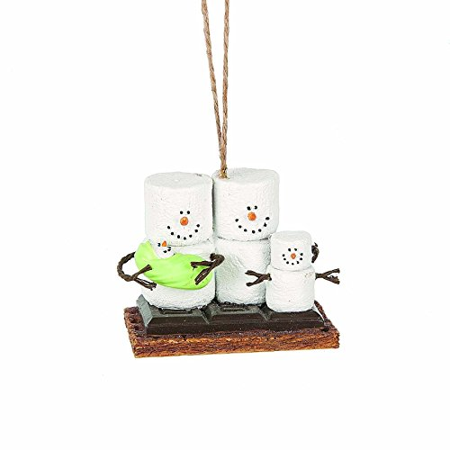 Snowman Ornament Collection - S'mores Original Family of Smores Snowman Ornament