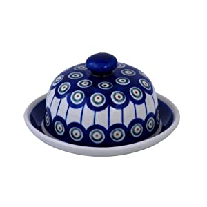 Original Boleslawiec Small Cheese Cover in the Decor 8 – GU-742/8