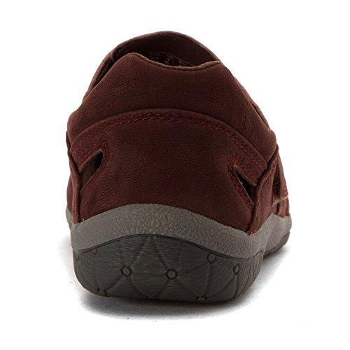 Clarks Vrouwen Teffa Sieren Mode Sneakers Oxblood Nubuck