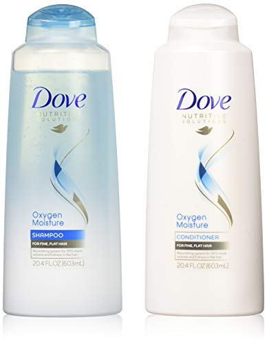Dove Nutritive Solutions Oxygen Moisture, Shampoo and Conditioner Set, 20.4 Ounce Each Dove Moisturizing Shampoo Conditioner