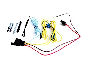 41nNLv0yRfL._SX355_ amazon com vw golf jetta mk5 mk6 fog light wiring harness kit Fog Light Wiring Diagram at fashall.co