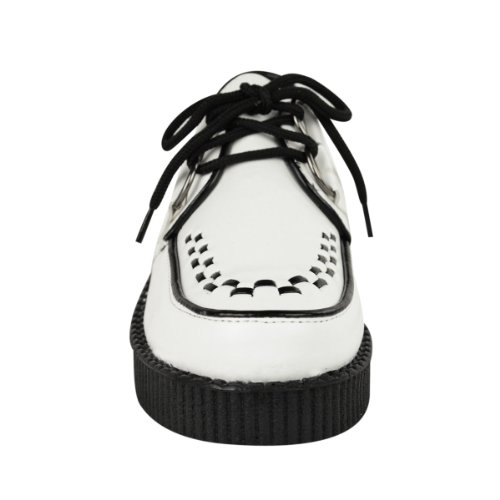 Thirsty Blanc Fashion pour Faux Baskets Cuir Monochrome fille mode 7Fqq6w4WpP