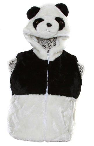 Youth Kids Animal Panda Hooded Vest, Small