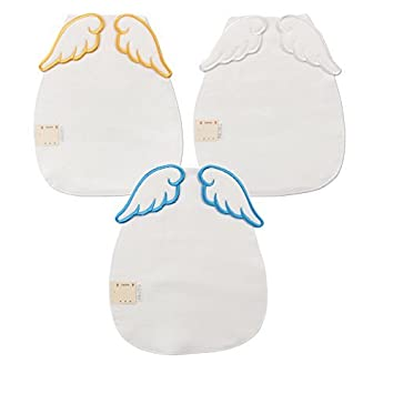 2a2e444dd75898 Simple Plan 天使の羽 エンジェル 翼 かわいい 汗取りパット 3枚セット ベビー 赤ちゃん 無