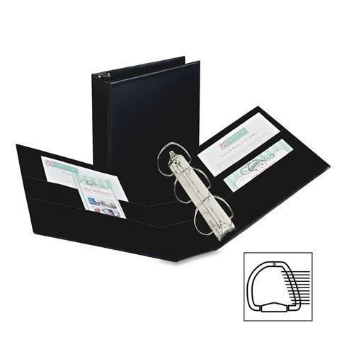 SR11-40-BK Avery Durable Slant Ring Reference Binder - 4'' Binder Capacity - Letter - 8.50'' Width x 11'' Length Sheet Size - 700 Sheet Capacity - 3 x D-Ring Fastener - 4 Pockets - Vinyl - Black - 1 Each