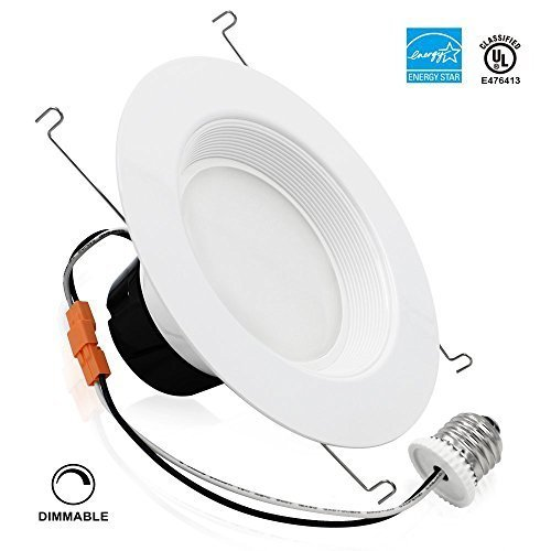 TORCHSTAR 19Watt 6-inch High CRI Wet Location Dimmable Retrofit LED Recessed Lighting Fixture, Energy Star UL-classified 120W Equivalent Ceiling Light, 2700K Soft White 1200lm Remodel Recessed Downlight - Recessed Lighting Wet Location