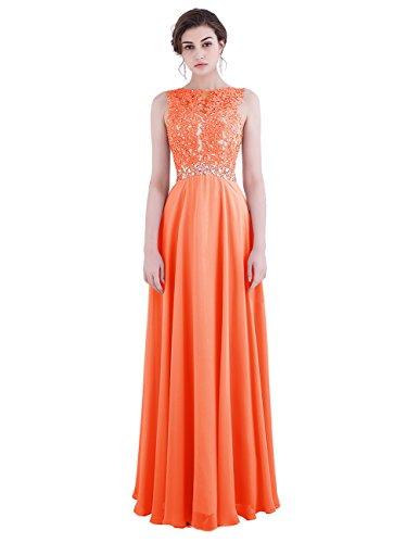 Cérémonie Robe Princesse De Ras Forme Orange Sol Dresstells Demoiselle D'honneur Longueur Du wq5I4dIY